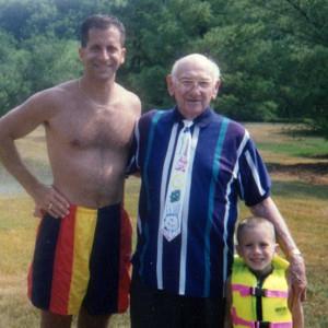 grandfather, son, grandson