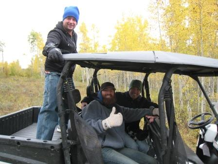 4 wheelin' behind our Wyoming ranch with Brain, Corey and Casey